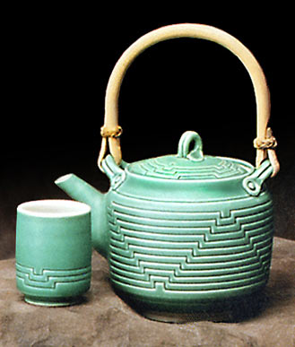 Carved all teapot